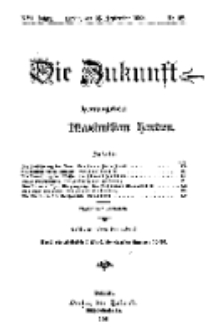 Die Zukunft, 26. September, Jahrg. XVI, Bd. 64, Nr 52.