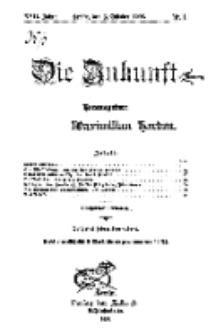 Die Zukunft, 3. Oktober, Jahrg. XVII, Bd. 65, Nr 1.