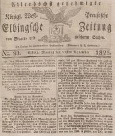 Elbingsche Zeitung, No. 93 Montag, 21 November 1825