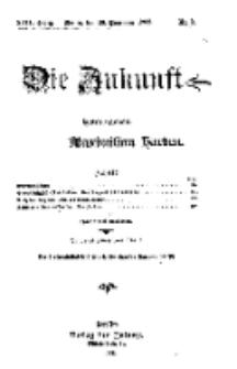 Die Zukunft, 28. November, Jahrg. XVII, Bd. 65, Nr 9.