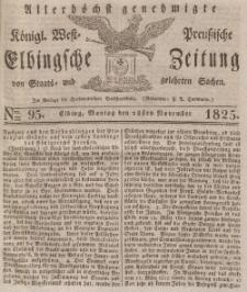Elbingsche Zeitung, No. 95 Montag, 28 November 1825