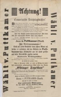 Achtung! Conservative Reichstagwähler!
