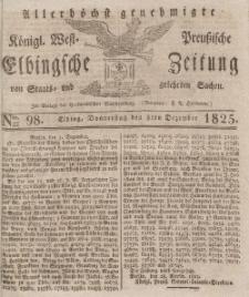 Elbingsche Zeitung, No. 98 Donnerstag, 8 Dezember 1825