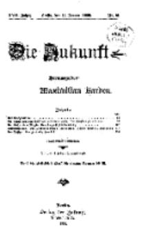 Die Zukunft, 16. Januar, Jahrg. XVII, Bd. 66, Nr 16.