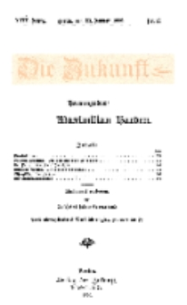 Die Zukunft, 23. Januar, Jahrg. XVII, Bd. 66, Nr 17.