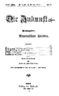 Die Zukunft, 27. Februar, Jahrg. XVII, Bd. 66, Nr 22.