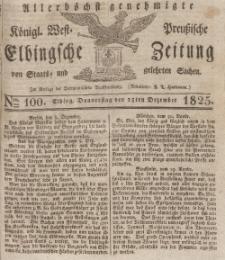 Elbingsche Zeitung, No. 100 Donnerstag, 15 Dezember 1825