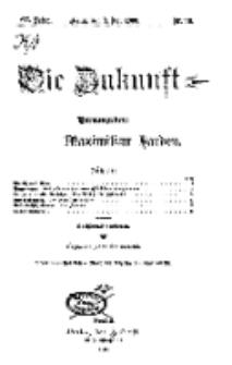 Die Zukunft, 3. Juli, Jahrg. XVII, Bd. 68, Nr 40.