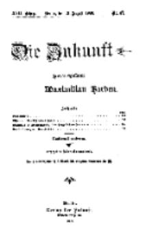 Die Zukunft, 21. August, Jahrg. XVII, Bd. 68, Nr 47.