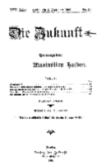 Die Zukunft, 4. September, Jahrg. XVII, Bd. 68, Nr 49.