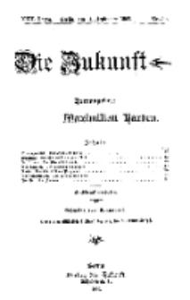 Die Zukunft, 11. September, Jahrg. XVII, Bd. 68, Nr 50.