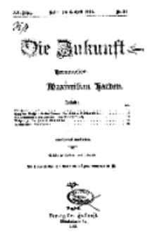 Die Zukunft, 6. April, Jahrg. XX, Bd. 79, Nr 27.