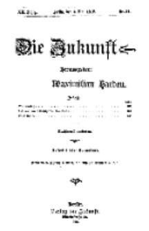 Die Zukunft, 4. Mai, Jahrg. XX, Bd. 79, Nr 31.