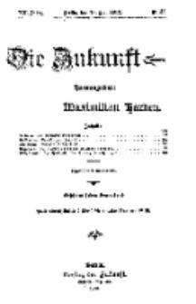 Die Zukunft, 18. Mai, Jahrg. XX, Bd. 79, Nr 33.