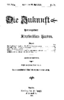 Die Zukunft, 25. Mai, Jahrg. XX, Bd. 79, Nr 34.