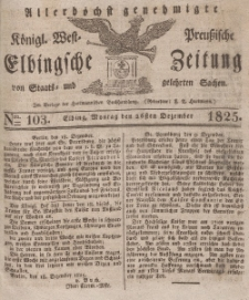Elbingsche Zeitung, No. 103 Montag, 26 Dezember 1825