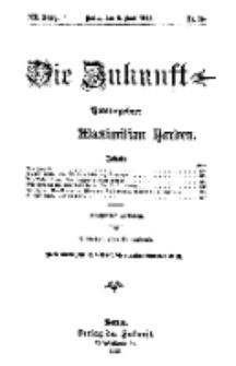 Die Zukunft, 8. Juni, Jahrg. XX, Bd. 79, Nr 36.