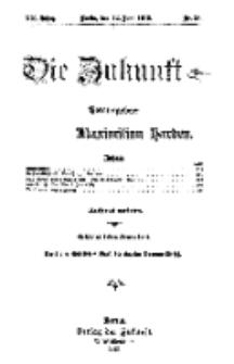 Die Zukunft, 22. Juni, Jahrg. XX, Bd. 79, Nr 38.