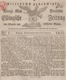 Elbingsche Zeitung, No. 1 Donnerstag, 2 Januar 1823