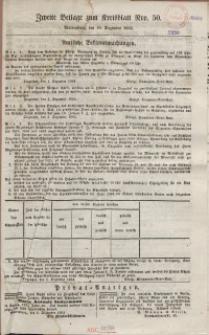 Marienburger Kreisblatt [...], [Sonnabend], 10. Dezember 1864, Beilage nr 50.
