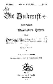 Die Zukunft, 6. Juli, Jahrg. XX, Bd. 80, Nr 40.