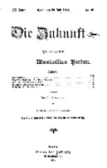 Die Zukunft, 20. Juli, Jahrg. XX, Bd. 80, Nr 42.