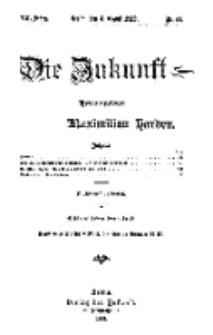 Die Zukunft, 3. August, Jahrg. XX, Bd. 80, Nr 44.