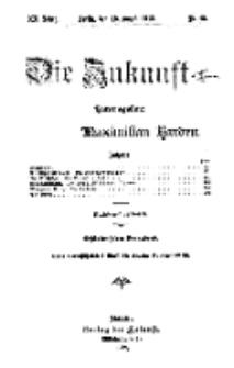 Die Zukunft, 10. August, Jahrg. XX, Bd. 80, Nr 45.
