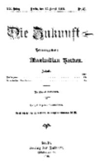 Die Zukunft, 17. August, Jahrg. XX, Bd. 80, Nr 46.