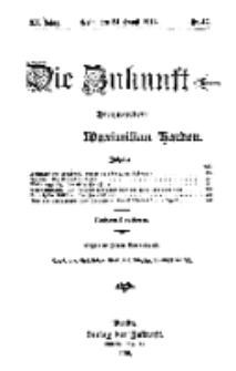 Die Zukunft, 24. August, Jahrg. XX, Bd. 80, Nr 47.
