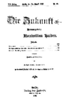 Die Zukunft, 31. August, Jahrg. XX, Bd. 80, Nr 48.