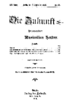 Die Zukunft, 7. September, Jahrg. XX, Bd. 80, Nr 49.