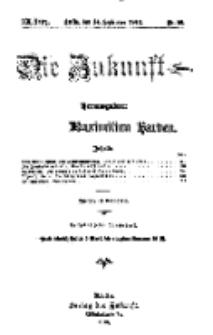 Die Zukunft, 14. September, Jahrg. XX, Bd. 80, Nr 50.