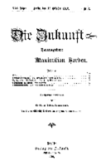 Die Zukunft, 12. Oktober, Jahrg. XXI, Bd. 81, Nr 2.