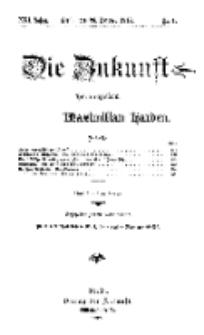 Die Zukunft, 26. Oktober, Jahrg. XXI, Bd. 81, Nr 4.