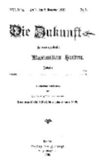 Die Zukunft, 2. November, Jahrg. XXI, Bd. 81, Nr 5.