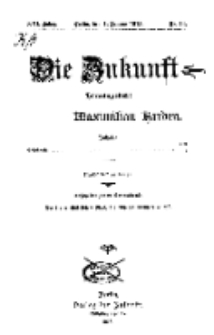 Die Zukunft, 4. Januar, Jahrg. XXI, Bd. 82, Nr 14.