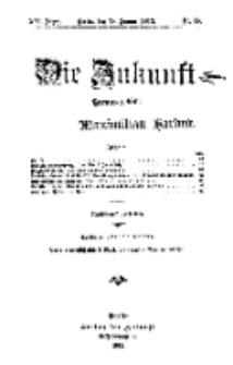 Die Zukunft, 18. Januar, Jahrg. XXI, Bd. 82, Nr 16.