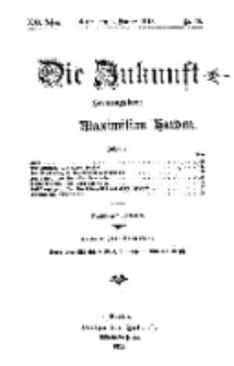 Die Zukunft, 1. Februar, Jahrg. XXI, Bd. 82, Nr 18.
