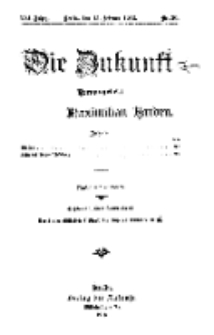 Die Zukunft, 15. Februar, Jahrg. XXI, Bd. 82, Nr 20.