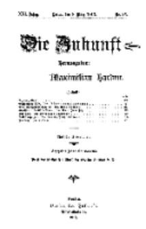 Die Zukunft, 8. März, Jahrg. XXI, Bd. 82, Nr 23.