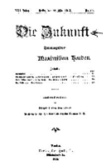 Die Zukunft, 22. März, Jahrg. XXI, Bd. 82, Nr 25.