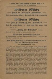 Verlag von Franz Wunder in Berlin S. W. 47 [ulotka]