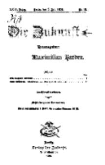 Die Zukunft, 3. Juli, Jahrg. XXIII, Bd. 92, Nr 40.