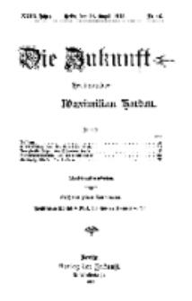 Die Zukunft, 14. August, Jahrg. XXIII, Bd. 92, Nr 46.