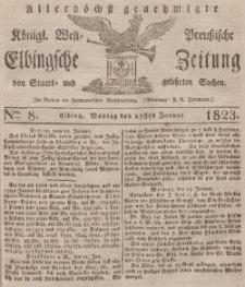 Elbingsche Zeitung, No. 8 Montag, 27 Januar 1823