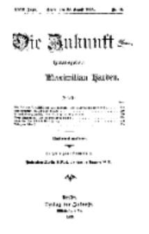 Die Zukunft, 28. August, Jahrg. XXIII, Bd. 92, Nr 48.