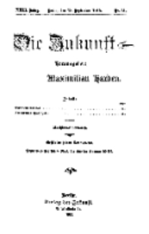 Die Zukunft, 18. September, Jahrg. XXIII, Bd. 92, Nr 51.
