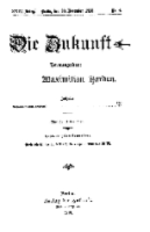 Die Zukunft, 20. November, Jahrg. XXIV, Bd. 93, Nr 8.