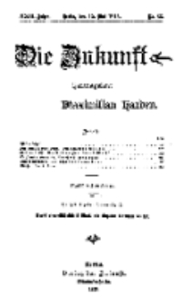 Die Zukunft, 15. Mai, Jahrg. XXIII, Bd. 91, Nr 33.